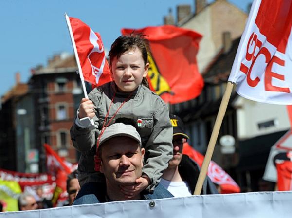 демонстрация рабочих в германии