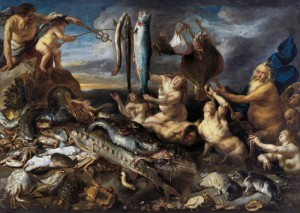 "Йорданс,  Cнейдерс  ""Дары моря""  1640 г."