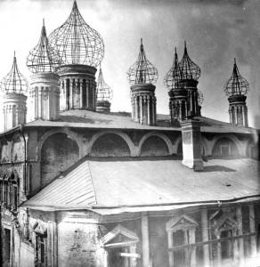 Снос Чудова монастыря в Московском Кремле