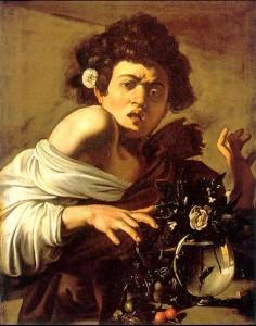 """""""Мальчик,  укушенный ящерицей"""" (1593-1594) Караваджо"""