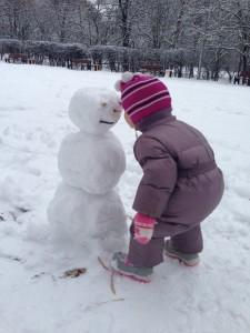 Васенка и снеговик