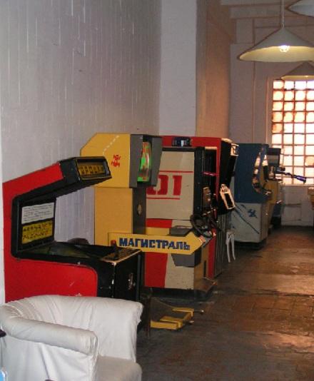 левый ряд игровых автоматов