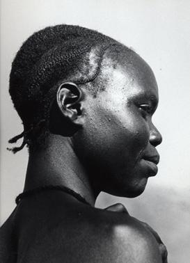 Н. Драчинский. Судан, Женский портрет в профиль. 1957 год.