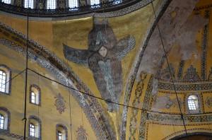 Немногие сохранившиеся фрески Святой Софии - Шестикрылый Серафим