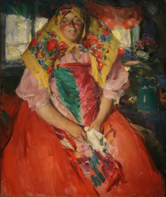 """Абрам Архипов  """"Баба в розовой кофте""""  1913 год"""