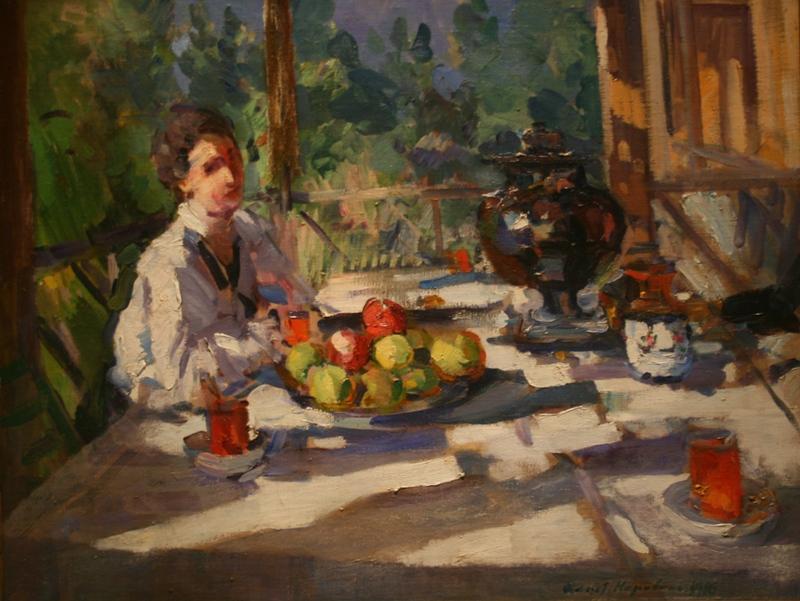 """Коровин  """"На террасе за чаем"""" 1916 год"""