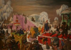 """Судейкин """"Масляничные гуляния"""" 1921-1922"""