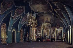 Шухвостов Степан Михайлович (1821-1908) «Внутренний вид Алексеевской церкви Чудова монастыря в Московском Кремле» 1866