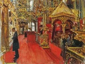 Внутренний вид Успенского собора (Минск)
