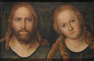 Христос и дева Мария