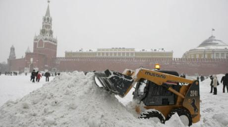 В Москве снегопад!